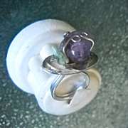 Sterling Silver Ring with Amethyst and Kyanite