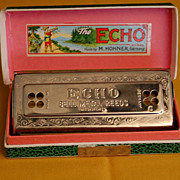 """The Echo Harp"" M. Hohner, Germany Harmonica"