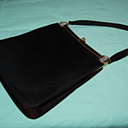 Vintage Rosenfeld Black Satin Ladies Evening Purse