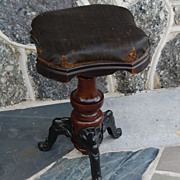 Victorian Empire Style Dated 1872 Organ/Piano Stool