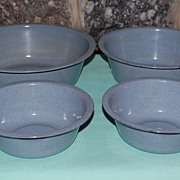 Early 1900's Blue Enamelware Basin/Bowls Kitchen Accessories