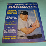 Mickey Mantle's Baseball Magazine June 1962 Vol.1 No. 1