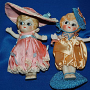 "Vintage 1920's ""Betty Boop"" Japan Hand Painted Bisque 6"" Dolls"
