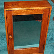 Early 1900's Oak Mirrored Medicine Cabinet