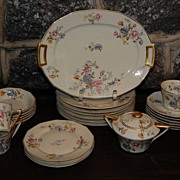 "CH Field Haviland Limoges ""Rosario"" Ivory China Dinnerware Pcs."