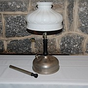 Akron Light Co. Chrome Coated Brass Diamond Pressure Lamp