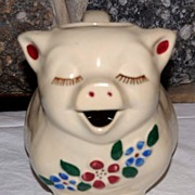 "Vintage Shawnee Pottery ""Smiley"" Pig Pitcher"
