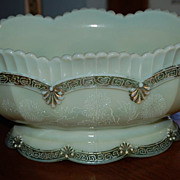 Early 1900's Chrysanthemum Custard Glass Master Berry Bowl