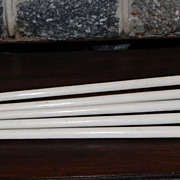 Vintage Painted Maple Cane/Walking Sticks with Metal Tips