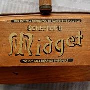 "Vintage ""Scheefer's"" Midget Toy Wooden Carpet Sweeper"