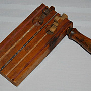 Early 1900's Wooden Hand Tooled Noisemaker