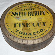 Early 1900's Light Sweet Burley Tobacco One Pound Tin Can