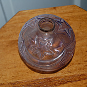 Late 1800's Decorative Purple Glass Lightening Rod Ball Topper