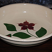 Vintage Star Flower Watt RF Pottery Spaghetti Serving Bowl