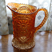 "Vintage Marigold Imperial Glass ""Mayflower"" Pattern Pitcher"