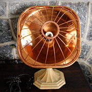 L & H (Lindermann & Hoverson) Electric Copper Space Heater