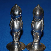"Sheffield Sterling Silver ""Kewpie Doll"" Salt and Pepper Shakers"
