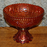 Imperial Grape Dark Marigold Carnival Glass Punch Bowl with Base
