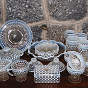 SOLD Vintage Anchor Hocking Glass  &quot;Moonstone&quot; Dinnerware Pieces