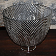 Vintage Wavy  Ribbed Glass Pattern Reflector Light Shade
