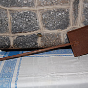 Early 1900's Hand Forged Iron Industrial Fireplace Shovel