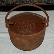 Early 1900's Clayton & Lambert Cast Iron Kettle/Pot with Handle