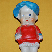 Vintage 1930's Hand Painted Porcelain Figural Child Kewpie Doll