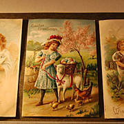 Early 1900's German &quot;Easter Greetings&quot; Postcards
