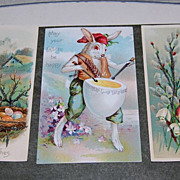 Early 1900's German &quot;Happy Easter Greetings&quot; Postcards