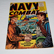 """Navy Combat "" 10 Cent Volume 1 No. 6 April 1956 Issue Comic"