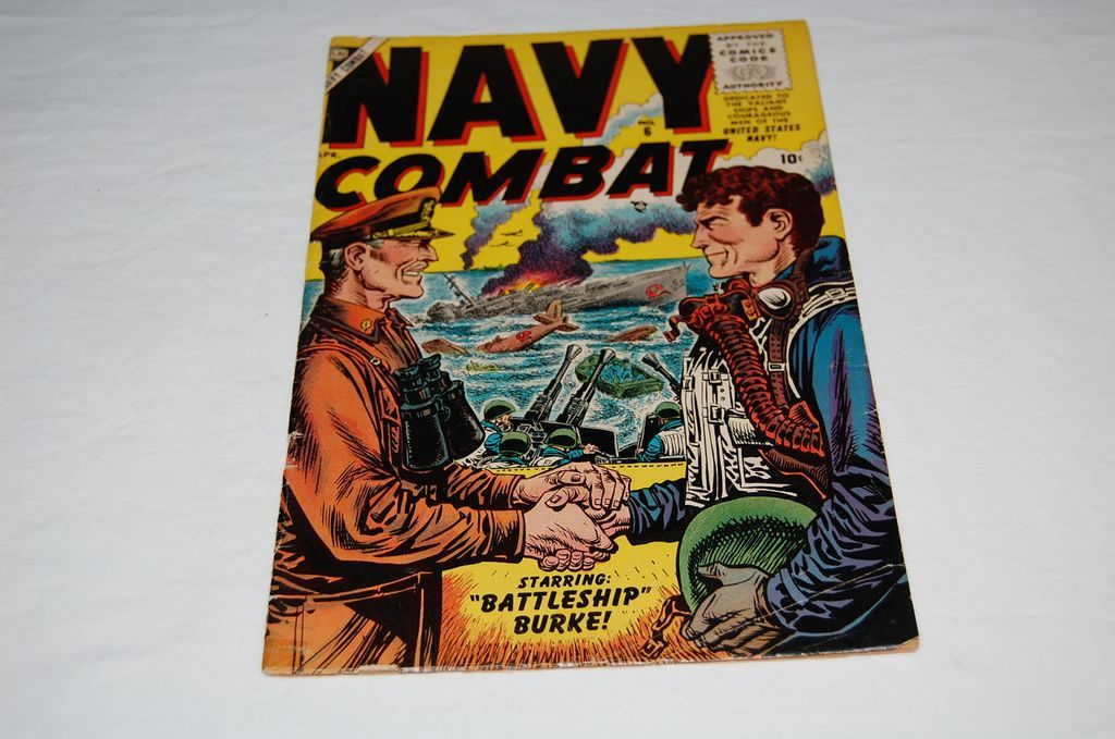&quot;Navy Combat &quot; 10 Cent Volume 1 No. 6 April 1956 Issue Comic