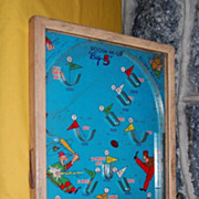 "Vintage 1930's "" Poosh-M-Up"" ""Big 5"" 5 in 1 Pinball Game"