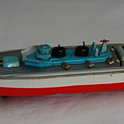 Tin Toy 1930's Cruise Ship/Battleship Japan with Interchange Deck