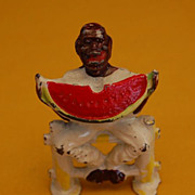 Vintage 1940's Black Americana Manoil Lead Painted Figure Toy
