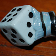 Porcelain Dice Shaped Japan 1930's Toy Carnival Cane
