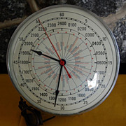 Vintage 1949 Military Style Timing Devices Company  Wall Clock