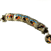Hand Painted Bullfight Scenes Bracelet