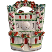 English Staffordshire Castle Flat Back Figurine  C. 1880