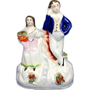 English Staffordshire Figurine C.1850-1860