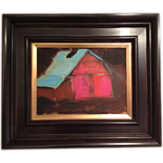 Original Oil Painting 'Red Barn'
