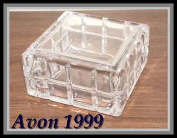 Avon Lead Crystal Perceive Keepsake Box