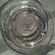Vintage Hilton Hotels Glass Ashtray