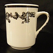 Jackson China Black Scroll Acanthyus Mug ~ 4 available