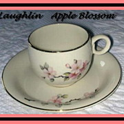 Homer Laughlin Apple Blossom Demitasse Cup & Saucer