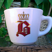 Vintage Jackson China Coffee Cup Old English &quot;B&quot; with Crown