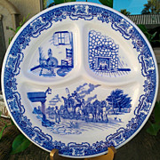 Iroquois China Ye Old Inn Grill 2 Plate Set