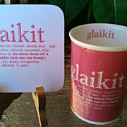 Glaikit Scottish Mug with Coasters by Viva