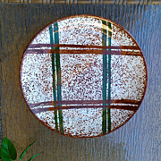 Blue Ridge Southern Potteries Rustic Plaid Dinner Plate 9 5/8&quot;