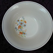 American Limoges Triumph Blue Daisy Vegetable Bowl