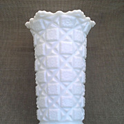 Westmoreland Old Quilt Milk Glass Vase